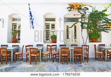 traditional tavern at Sifnos island Cyclades Greece