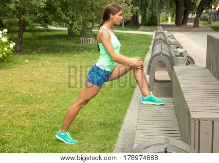 Sportswoman Ready To Outdoor Workout