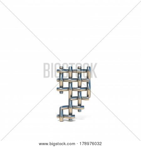 Metal Wire Mesh Font Comma 3D