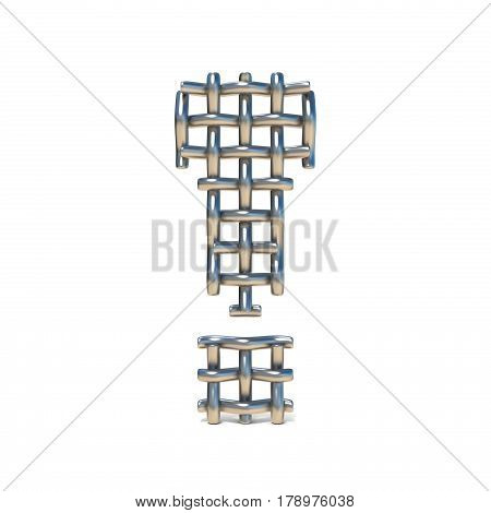 Metal Wire Mesh Font Exclamation Mark 3D