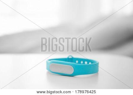Sleep tracker on table in bedroom