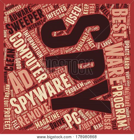 Recent studies show that 9 out of 10 PCs are infected with Spyware text background wordcloud concept