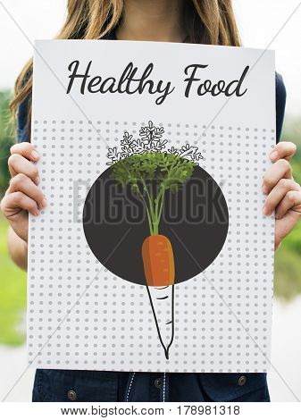 Healthy Eating Food Lifestyle Organic Wellness Graphic
