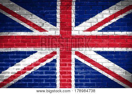 England flag , England flag on wall texture background