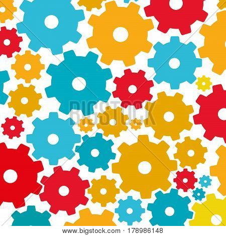 colorful background with pattern of pinions vector illustration