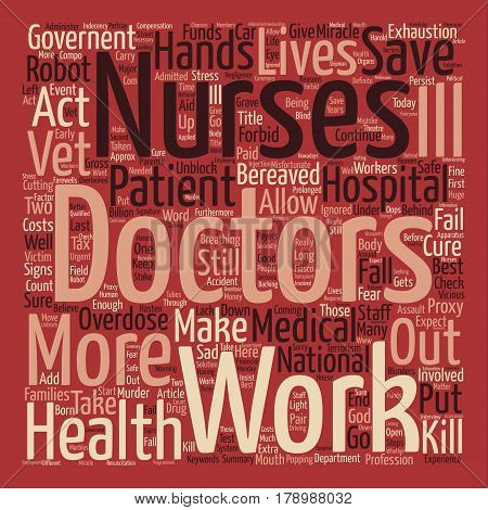 ROBOT Doctors KILL not Cure Word Cloud Concept Text Background