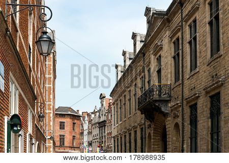 BRUSSELS, BELGIUM - June 16, 2016. Street view of Buildings around city night, one of the most popular tourist destinations in brussel, Belgium.