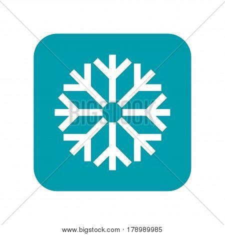 Snow, snowfall and snowflake, flat icon weather forecast isolated on white background. Vector