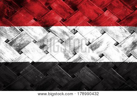 Yemen national flag , Yemen national flag on Weave Bamboo