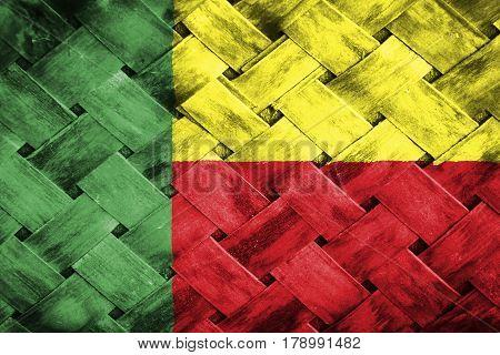 Benin flag , Benin flag on Weave Bamboo
