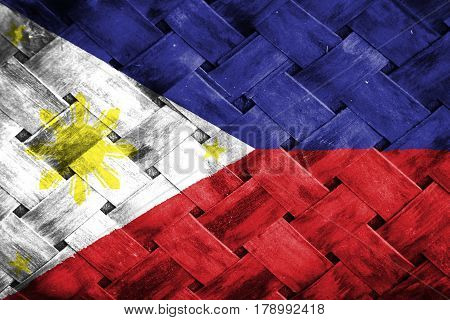 Phillippines flag , Phillippines flag on Weave Bamboo