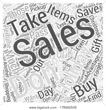 Save the Most Money with Holiday Sales Word Cloud Concept