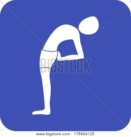 Pose, moon, half icon vector image. Can also be used for yoga poses. Suitable for mobile apps, web apps and print media.