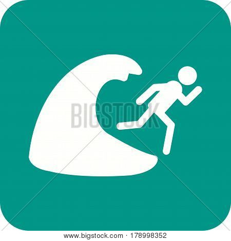 Flood, water, hurricane icon vector image. Can also be used for disasters. Suitable for mobile apps, web apps and print media.