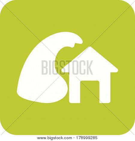 Lightning, house, storm icon vector image. Can also be used for disasters. Suitable for mobile apps, web apps and print media.