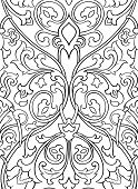 Black and white floral pattern. Seamless filigree ornament. Stylized template for wallpaper textile shawl carpet and any surface. poster