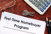 Document with title First time home buyer program. poster