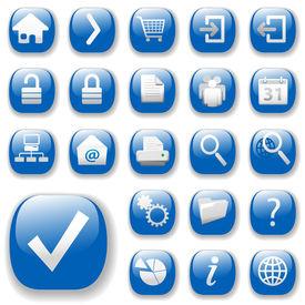 Web Icons - bleu, avec Dropshadows