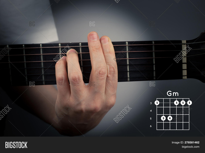 Guitar Chord On Dark Image & Photo Free Trial   Bigstock