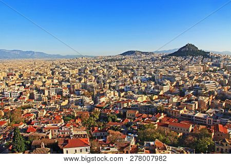 View Of Mount Lycabettus And The City Of Athens