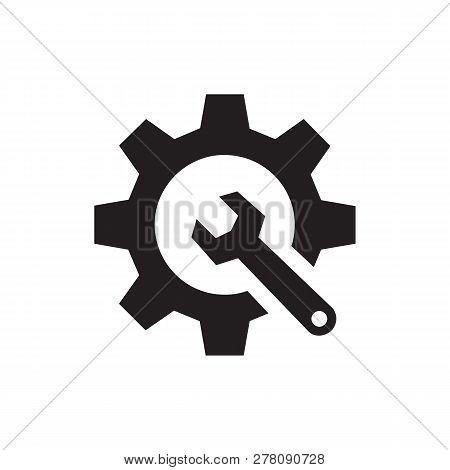 Seo - Black Icon On White Background Vector Illustration For Website, Mobile Application, Presentati