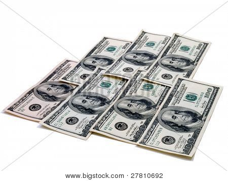 A mat of $100.00 bills