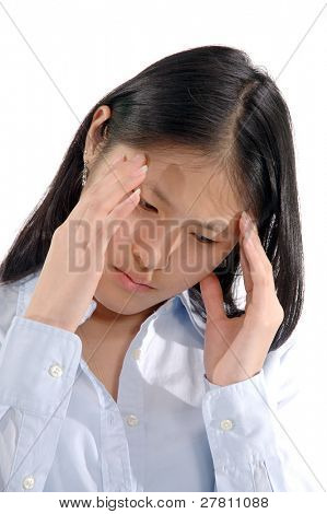 Stressed out asian woman