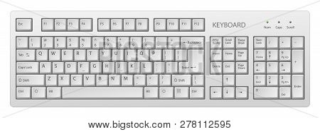 Vector White Pc Keyboard, Keyboard Is Very Useful Tool For Personal Computer, It Is Necessary To Wri