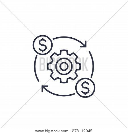 Costs Optimization And Production Efficiency Icon, Linear