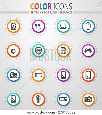 Supermarket Electronic Vector Icons For User Interface Design