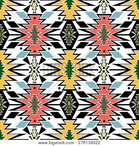 Seamless Tribal African Ornamental Pattern Background  Design