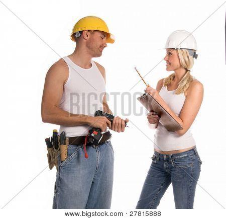 A unisex construction team