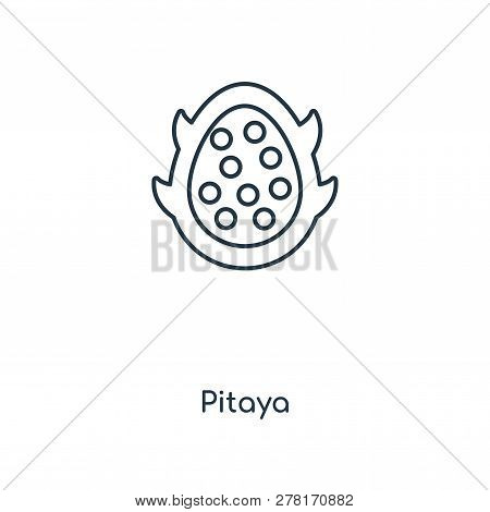 Pitaya Icon In Trendy Design Style. Pitaya Icon Isolated On White Background. Pitaya Vector Icon Sim