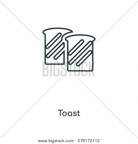 Toast Icon In Trendy Design Style. Toast Icon Isolated On White Background. Toast Vector Icon Simple