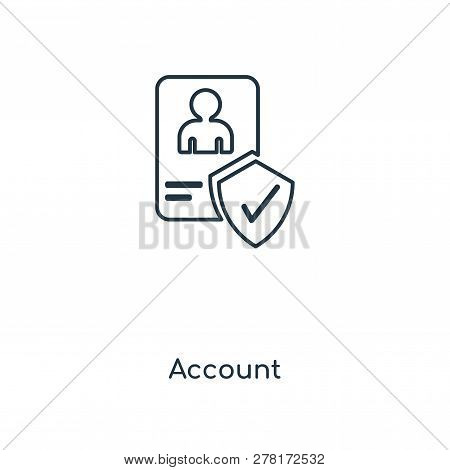 Account Icon In Trendy Design Style. Account Icon Isolated On White Background. Account Vector Icon