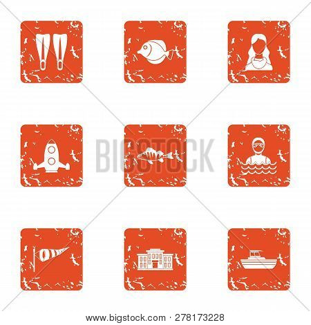Bachelor Party Icons Set. Grunge Set Of 9 Bachelor Party Icons For Web Isolated On White Background