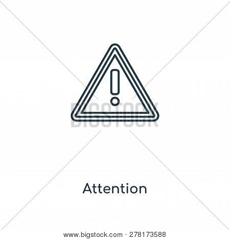 Attention Icon In Trendy Design Style. Attention Icon Isolated On White Background. Attention Vector