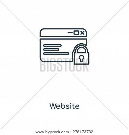 Website Icon In Trendy Design Style. Website Icon Isolated On White Background. Website Vector Icon