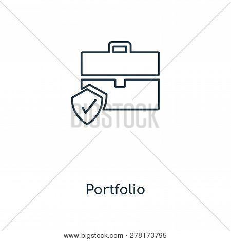 Portfolio Icon In Trendy Design Style. Portfolio Icon Isolated On White Background. Portfolio Vector
