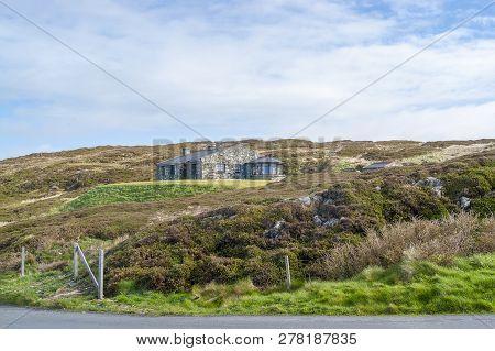 Idyllic Coastal Scenery Including A House Around Sky Road In Connemara, A Region In Western Ireland