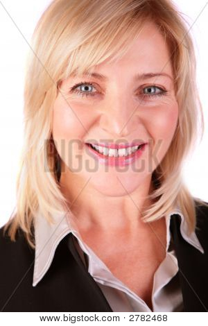 Middleaged Businesswoman Face Close-Up