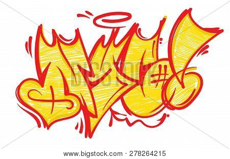 Street Wild Fast Flop Style Graffiti Nyc Which Made Aerosol Paint On Wall. Urban Life Hip Hop Cultur