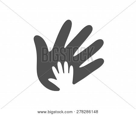 Hand Icon. Social Responsibility Sign. Honesty, Collaboration Symbol. Quality Design Element. Classi