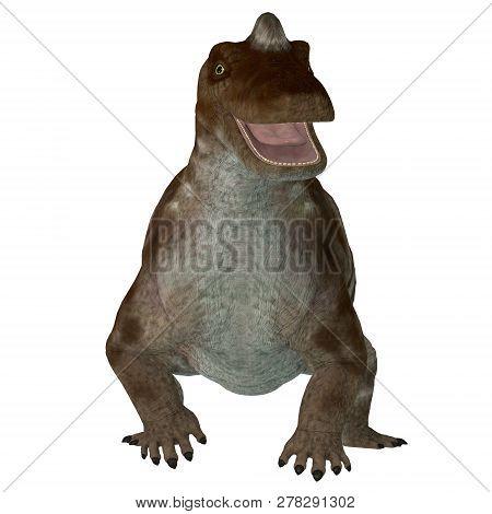 Keratocephalus Dinosaur 3d Illustration - Keratocephalus Was A Primitive Herbivore Dinosaur That Liv