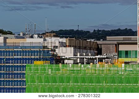 Gosford, New South Wales, Australia - December 6, 2018: Construction And Building Work On Gosford Ho