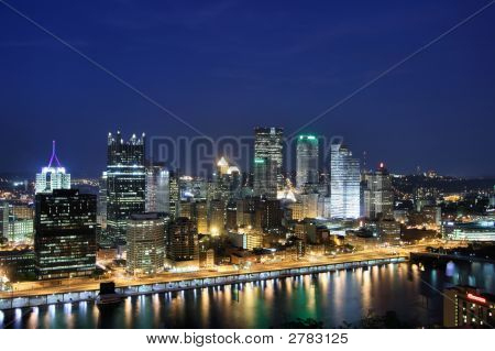 Pittsburgh'S Skyline At Night