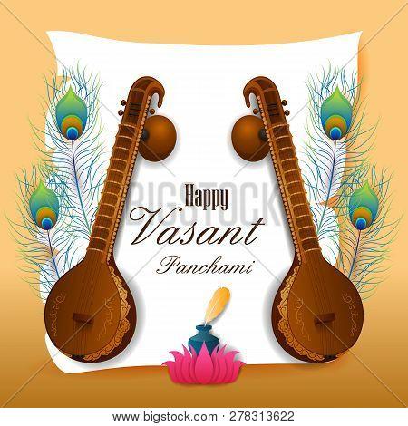 Vasant Panchami Saraswati Puja Indian Festival Background