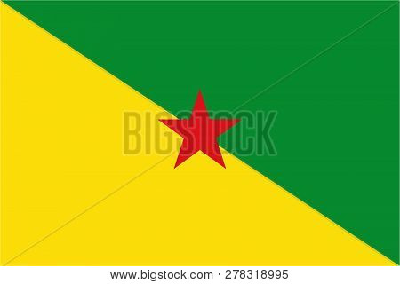 Flag Of French Guiana In Unofficial Rate And Colors, Vector.