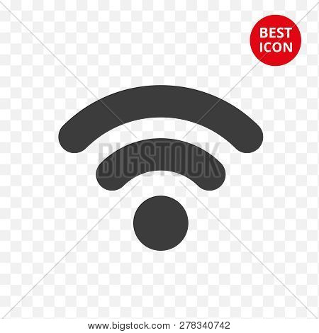 Black Wifi Icon. Vector Symbol Connection. Internet Isolated Sign. Modern Signal Wifi In Flat Style.