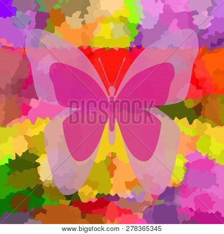 Butterfly Bright Colorful Background For Positive Mood